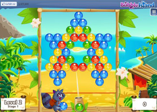 Facebook Bubble Island Screenshot