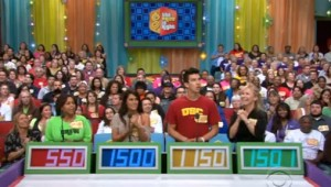 The Price Is Right - Contestant's Row